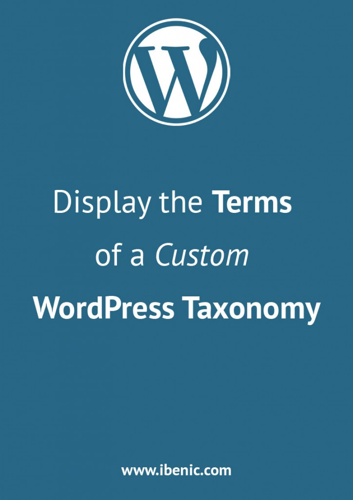 Custom WordPress Taxonomy