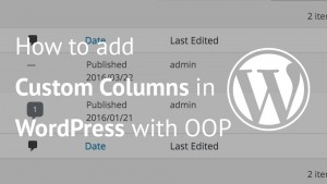 Image of custom columns in WordPress
