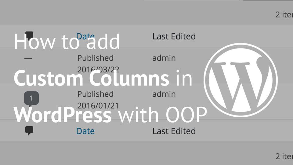 Image of custom columns in WordPress