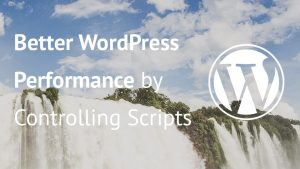 Image of waterfalls with article title over them