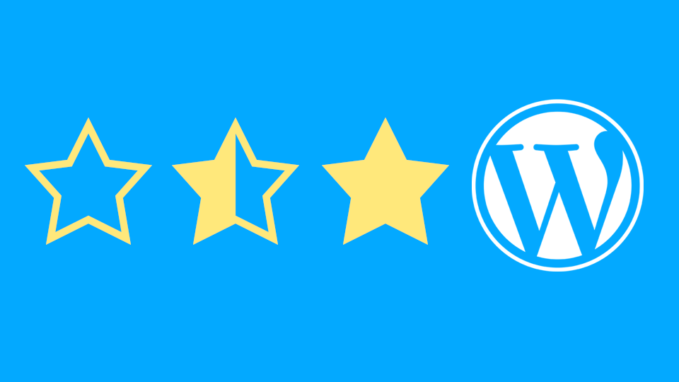 Rating Stars with WordPress logo