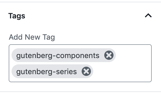 Gutenberg Components: Form Token Field (Tags Field)
